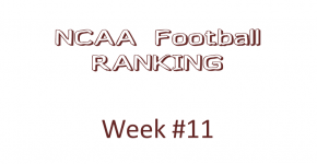 NCAA Football Ranking Week 11