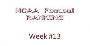 NCAA Football Ranking Week 13